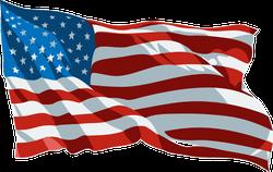 Rippling USA Flag Sticker