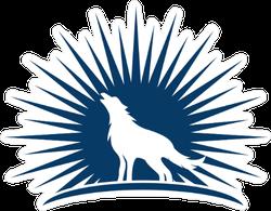 Rising Sun Wolf Sticker
