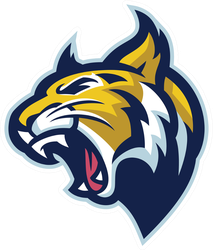 Roaring Bobcat Mascot Head Sticker