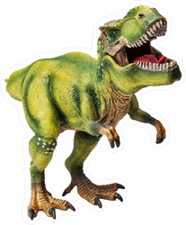 Roaring Green T-Rex Sticker