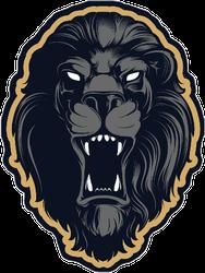 Roaring Lion Head Mascot Mascot Sticker