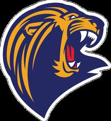 Roaring Lion Head Mascot Sticker