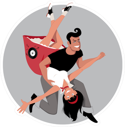 Rock and Roll 50's Dance Sticker