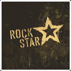 Rock Star Grunge Sticker