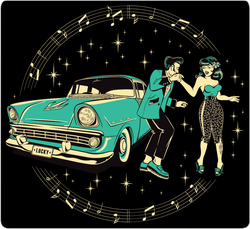 Rockabilly Dancers Sticker
