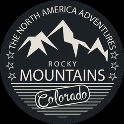 Rocky Mountains, Colorado Sticker