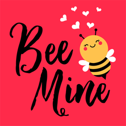 Romantic Bee Mine Sticker