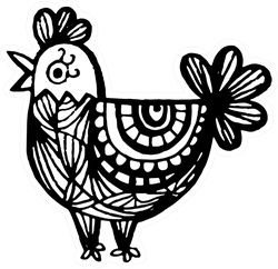 Rooster Chicken Chinese Zodiac Symbol Sticker