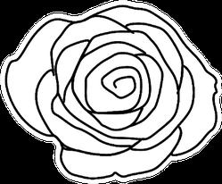 Rose Flower Outline Sticker