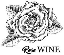 Rose Wine Monochrome Sticker