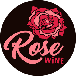 Rose Wine Sticker