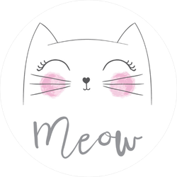 Rosy Cheeks Meow Cat Sticker