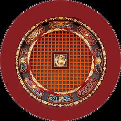 Round Chinese Window (kunming, Yunnan, China) Sticker