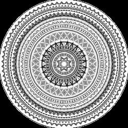 Round Tribal Ornament Sticker
