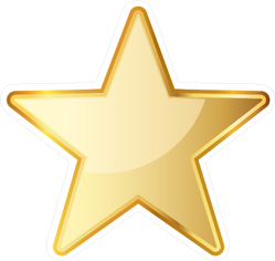 Rounded Golden Star Icon Sticker