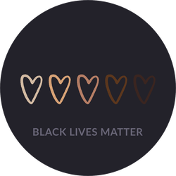 Row Of Hearts Colored From White To Black BLM Sticker