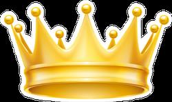 Royal Attribute Golden Crown Sticker