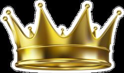 Royal Gold Crown Sticker