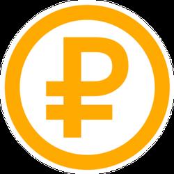 Ruble Transfer Sticker