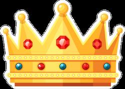 Ruby Emerald and Diamond Crown Sticker