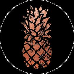 Rugged Copper Pineapple Sticker