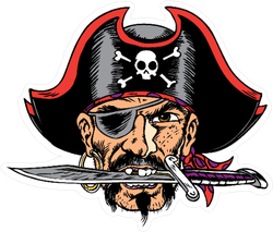 Rugged Pirate Sticker