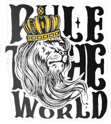Rule the World Crown Sticker