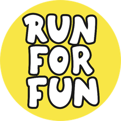Run For Fun Hand Lettering On Yellow Sticker