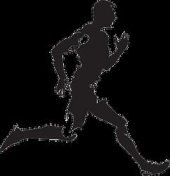 Running Man Silhouette Sticker