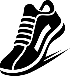 Running Shoe Icon Sticker