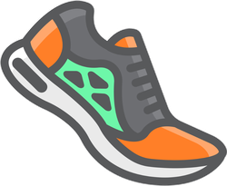Running Shoes Fitness Icon Sticker