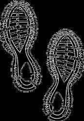 Running Shoes Imprint Sticker