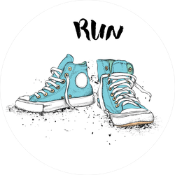 Running Sneakers Sticker