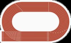 Running Track Sticker