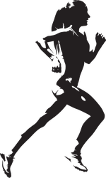 Running Woman Silhouette Sticker