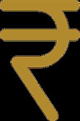 Rupee Symbol Sticker
