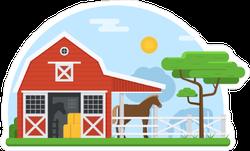 Rural Barn Landscape Sticker