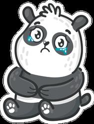 Sad Crying Panda Bear Sticker