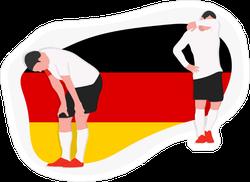 Sad Defeated Germany Football Team Player Sticker