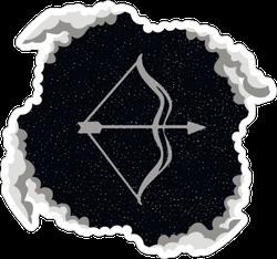 Sagittarius Starry Sky In The Clouds Sticker