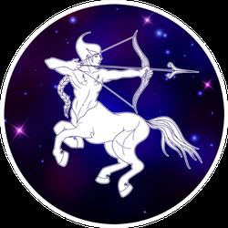Sagittarius Zodiac Sign Centaur Sticker