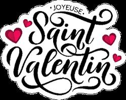 Saint Valentin Lettering Illustration Sticker