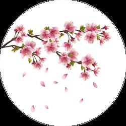 Sakura Blossom Pink Japanese Cherry Tree Sticker