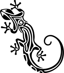 Salamander Lizard Tribal Sticker