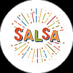 Salsa Dance Circle Sticker