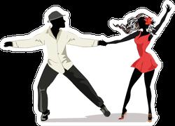 Salsa Dancers Dancing Sticker