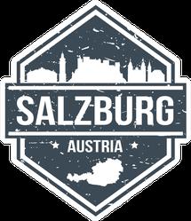 Salzburg Austria Travel Stamp Sticker