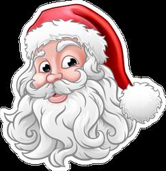 Santa Claus Cartoon Christmas Sticker