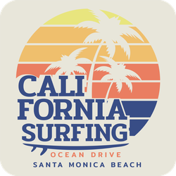 Santa Monica Beach Surfing Sticker
