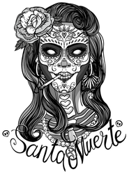 Santa Muerte Day of the Dead Sticker